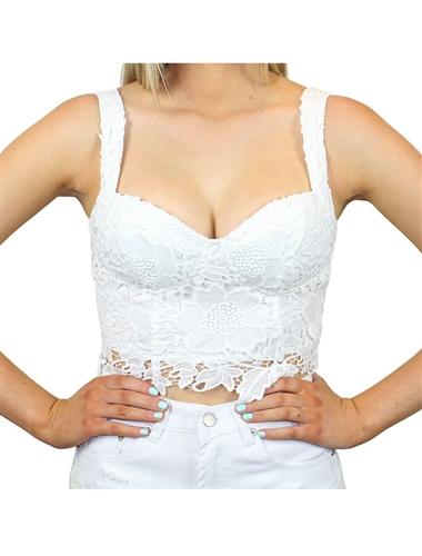 Emma lace crop