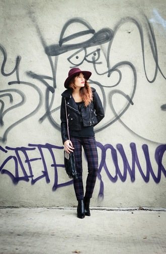 the marcy stop blogger jacket tank top pants hat bag jewels shoes
