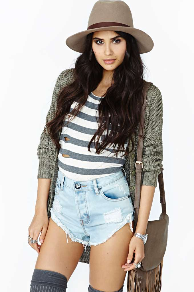 One Teaspoon Bandit Cutoff Shorts - Faded Blue in  Clothes Bottoms Shorts at Nasty Gal