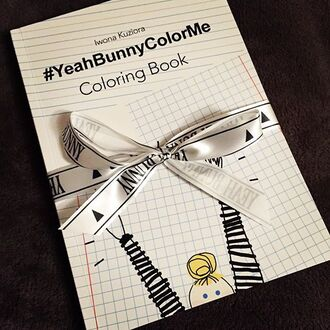 Home Accessory Yeah Bunny Creative Gift Cute Coloringbook Colorme Yeahbunnycolorme
