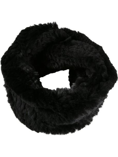 Jocelyn fur women infinity scarf infinity scarf black