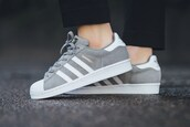 shoes,adidas,adidas superstars,grey,trainers,adidas shoes,grey sneakers
