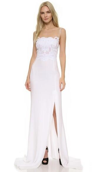 gown sleeveless optical white dress