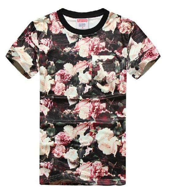 Pink Floral Shirt   Artee Shirt