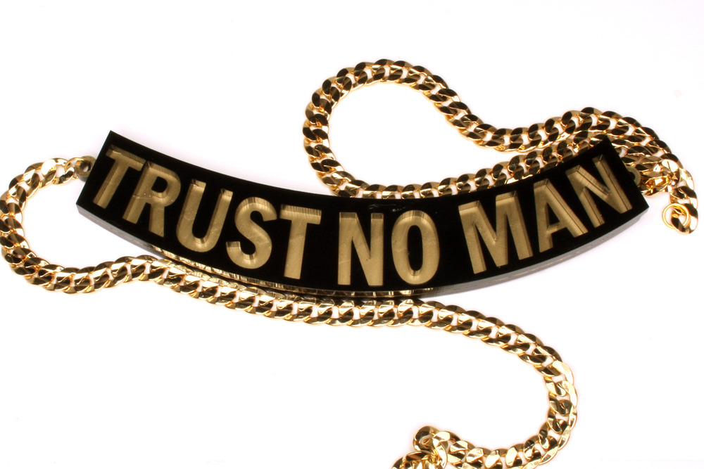 Trust No Man Necklace | Honey B Gold