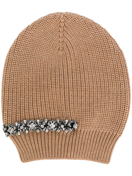 embellished beanie nude hat
