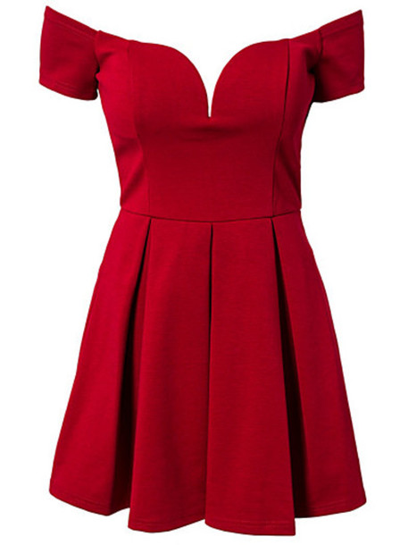 0a5854d9011c dress bardot dress off the shoulder plunge neckline sweetheart dress skater  dress