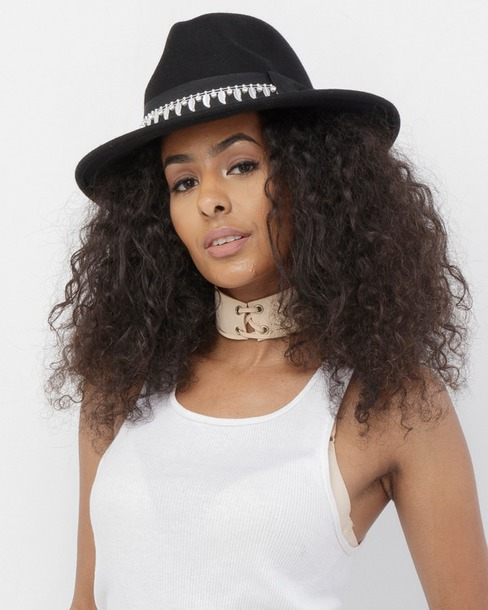 hat wide brim hat black black hat fedora black fedora wool wool hat