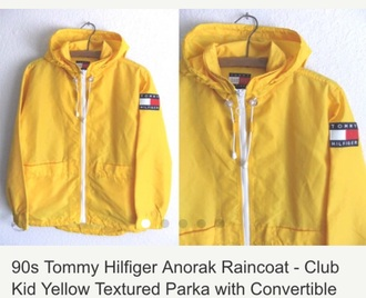 jacket white tommy hilfiger black vintage yellow red hoodie 90s style coat