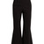 High-rise flared stretch-wool trousers