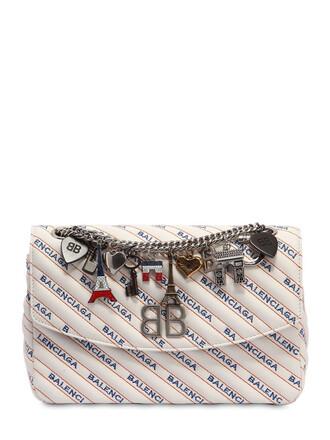 bag shoulder bag leather white
