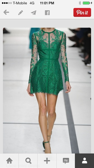 dress green dress green lace dress lace long sleeve dress a line skirt a line dresses