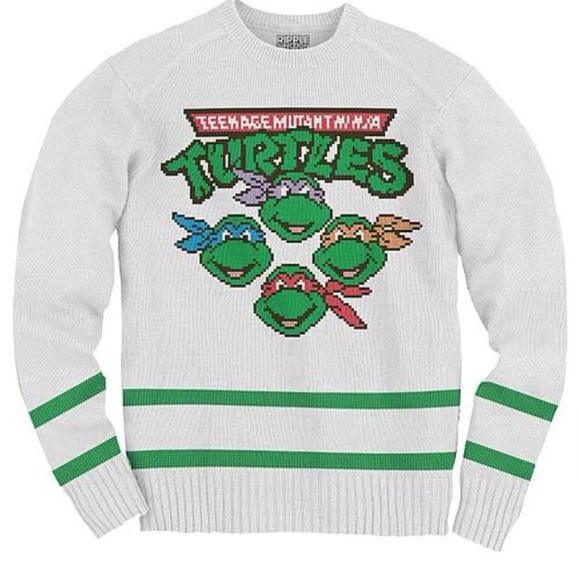 jacket ninja turtles knit sweater