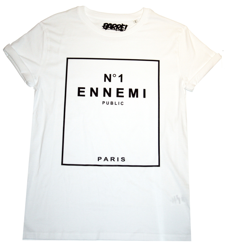 T-shirt blanc N°1 Ennemi Public porté par Alban Bartoli #LeMag | shozap