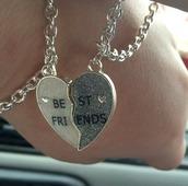 jewels,bff,bestfriend necklace,best friends bracelet,bracelets,jewelry,hand jewelry,silver jewelry