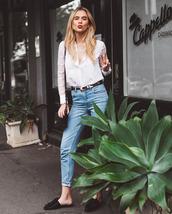 sbstnc,blogger,jeans,shoes,blouse,bag