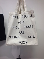bag,black writing,true,comedy,comedic,witty,funny,cute,grunge,bookbag,cool,unisex,dope,summer,vintage,accessories,Accessory,cream,lazy day,lifestyle,warm,on point clothing,quote on it,bag with quote,black and white