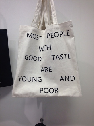 bag black writing true comedy comedic witty funny cute grunge bookbag cool unisex dope summer vintage accessories accessory cream lazy day lifestyle warm on point clothing quote on it bag with quote black and white