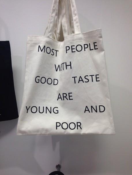 bag black writing