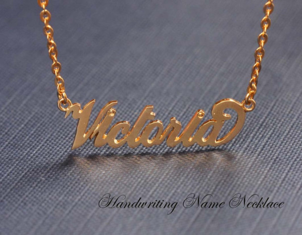 Jewels Name Necklace Initial Personalized Handcrafted Jewelry Sterling Silver 925
