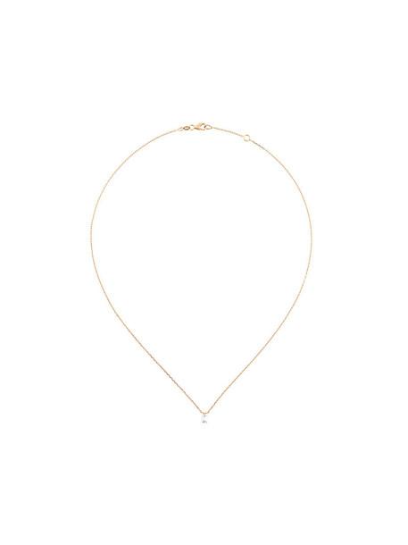 Sarlane rose gold rose women necklace gold grey metallic jewels