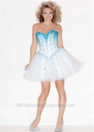 Corset White Turquoise Mori Lee 9214 Prom Dress [short white turquoise prom dress] - $145.00 : Cheap Sequin Prom Dresses2014,Online Tailored Prom Dresses Shop,Homecoming Dresses Cheap