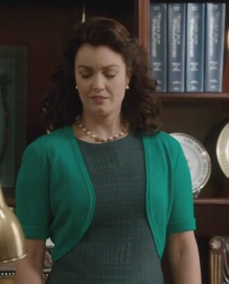 dress green mellie grand mellie grant scandal cardigan bellamy young sleeveless cashmere