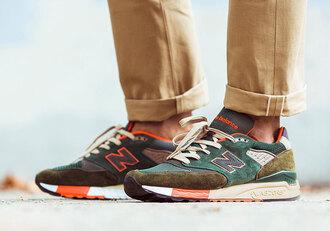 shoes 998 tropical orange beige gray dark blue newbalance new balance mens shoes