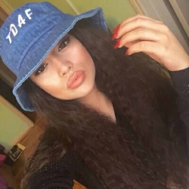 hat bucket hat beautiful fashion style