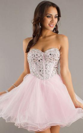 Line sweetheart short/mini dress online
