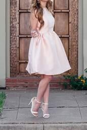 dress,tumblr,midi dress,pink dress,sleeveless,sleeveless dress,sandals,sandal heels,high heel sandals,shoes