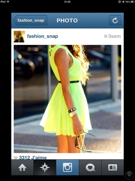 dress beautiful yellow