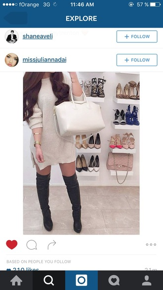 dress knitwear sweater sweater dress shoes