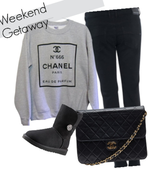 gris sweater chanel