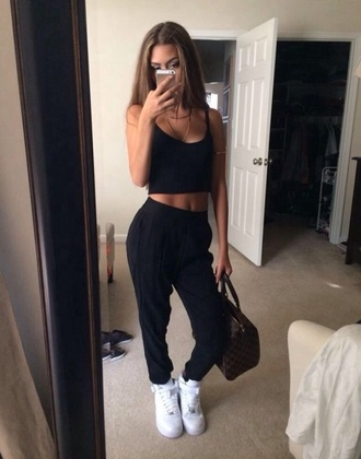 pants shoes crop tops sweats