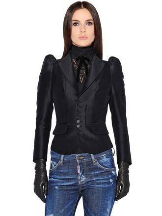 jacket victorian velvet black