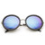 Womens Oversize Trendy Round Circle Fashion Revo Mirror Lens Sunglasse