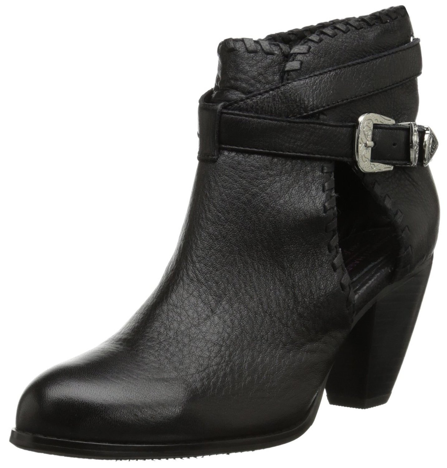 Amazon.com: Madison Harding Women's Olivia Black Leather Boot: Shoes