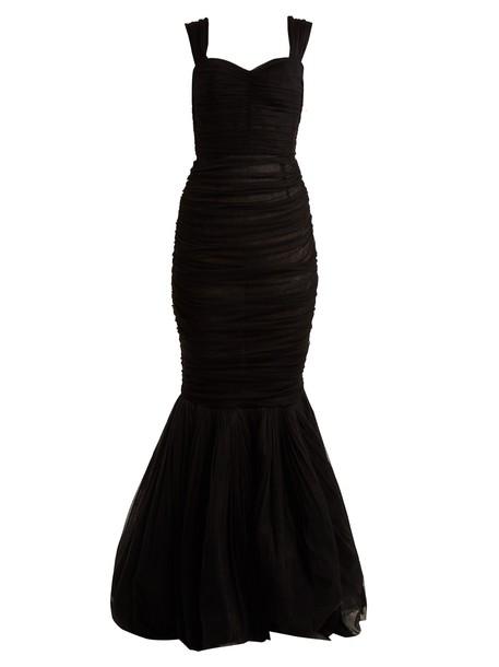 Dolce & Gabbana gown silk black dress