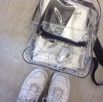 bag clear transparent backpack aesthetic