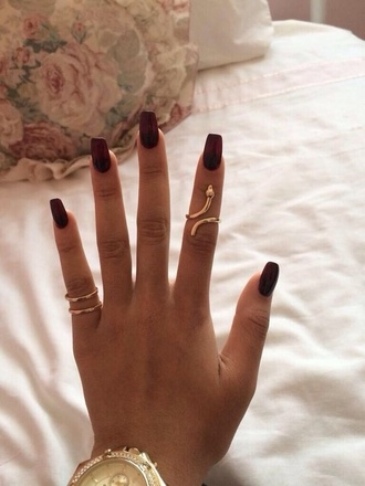 jewels snake ring snake ring gold knuckle ring gold midi ring gorgeous pretty in love purple nails long nails