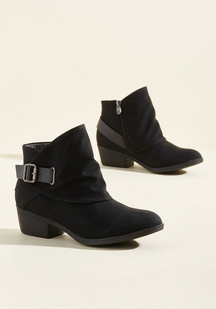 BF-6728 sill straps booties black booties heels leather black shoes