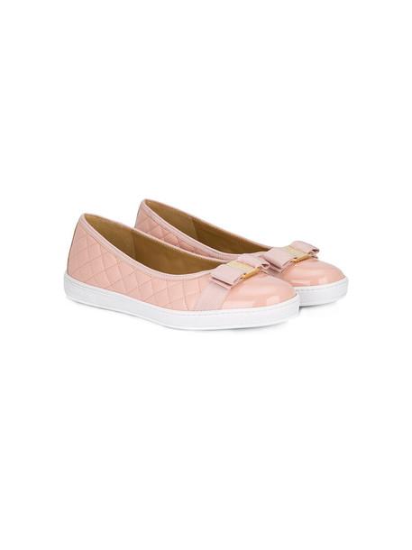 Salvatore Ferragamo Kids mini shoes leather purple pink