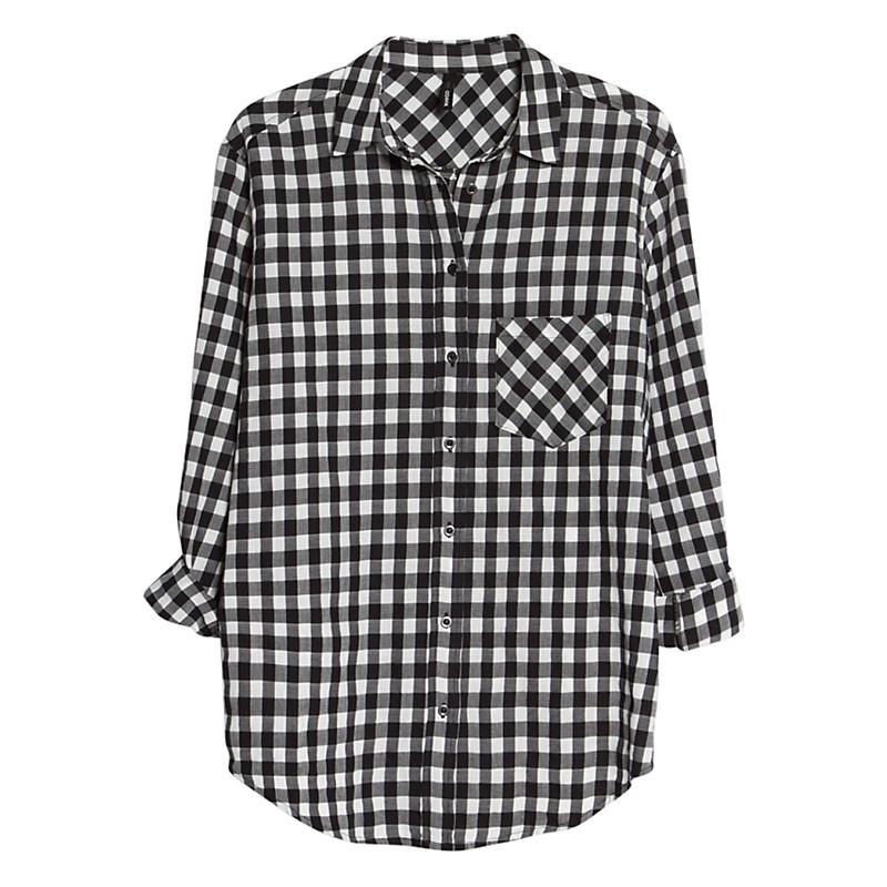 Buy Mango Gingham Check Shirt, Black | John Lewis
