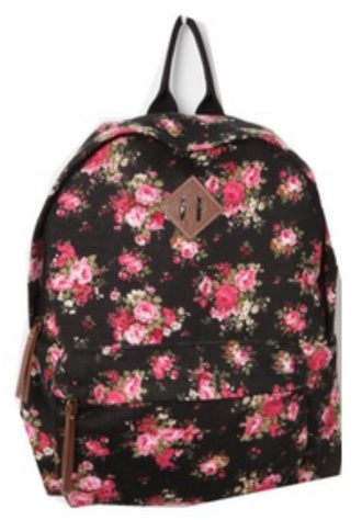 bag cat valentine victorious backpack ariana grande floral flowers