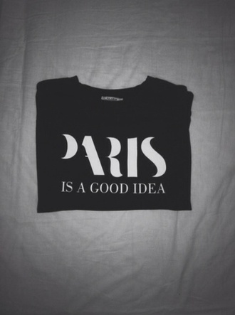 sweater weather paris good idea paris is a good idea black sweater black white black n white
