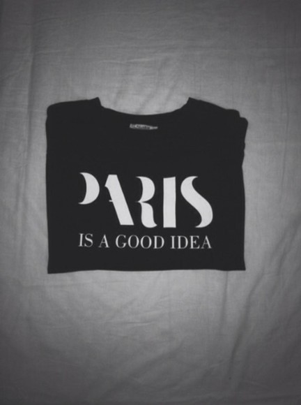 sweater black black sweater white weather paris good idea paris is a good idea black n white