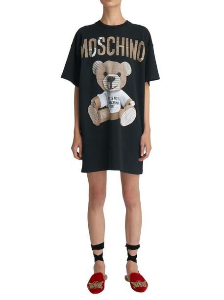 Moschino dress short sleeve dress short black