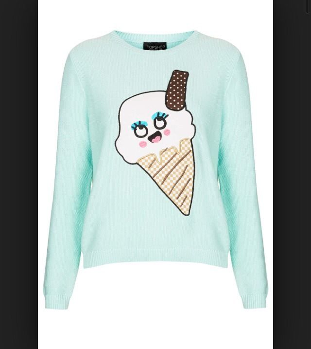 Topshop Womens Ice Cream Jumper