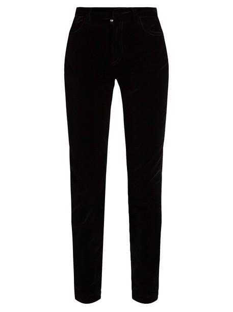 Dolce & Gabbana velvet black pants